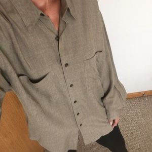 PERRY ELLIS WOMEN'S BUTTON UP/TUNIC
